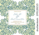 wedding invitation cards with...   Shutterstock . vector #195120215