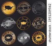 united states business metal... | Shutterstock .eps vector #1951209562