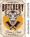 butchery shop farm fresh meat... | Shutterstock .eps vector #1951216198
