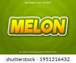 melon text effect template...   Shutterstock .eps vector #1951216432