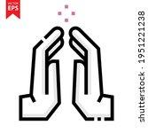 namaste hand sign vector design....