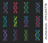 dna icons set  deoxyribonucleic ... | Shutterstock .eps vector #1951245778