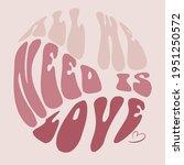 70s retro groovy hippie slogan... | Shutterstock .eps vector #1951250572