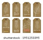 Set Of Vintage Tags With Hand...