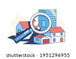 real estate search vector...   Shutterstock .eps vector #1951296955