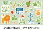 ecological stickers. collection ... | Shutterstock .eps vector #1951298848