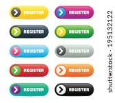 colorful register buttons | Shutterstock .eps vector #195132122