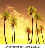 beautiful sunset   Shutterstock . vector #19513219