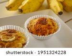 Homemade Banana Patties On A...