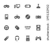 video game icons  vector. | Shutterstock .eps vector #195132932