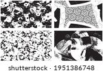 set of grunge textures in black ... | Shutterstock .eps vector #1951386748