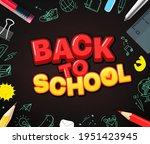 back to school concept. pencils ... | Shutterstock .eps vector #1951423945