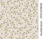 botanical seamless pattern with ... | Shutterstock .eps vector #1951433818