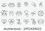 charity line icon set.... | Shutterstock .eps vector #1951434022