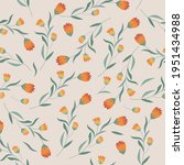botanical seamless pattern with ... | Shutterstock .eps vector #1951434988