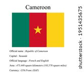 cameroon national flag  country'...   Shutterstock .eps vector #1951435675
