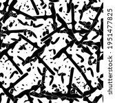 seamless monochrome pattern of... | Shutterstock .eps vector #1951477825