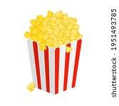 popcorn box or bucket full of...   Shutterstock .eps vector #1951493785