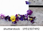 Frame With Pansy Flowers....