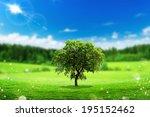 beautiful tree landscape. eco... | Shutterstock . vector #195152462