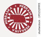nebraska stamp. travel red... | Shutterstock .eps vector #1951529995