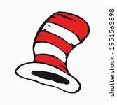 dr seuss cat in the hat. hat ... | Shutterstock .eps vector #1951563898
