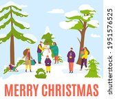 merry christmas banner  cartoon ... | Shutterstock .eps vector #1951576525