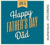 retro style typographic design... | Shutterstock .eps vector #195158642