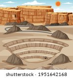 landscape with mining quarry... | Shutterstock .eps vector #1951642168