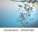air bubbles in water  | Shutterstock . vector #195167462