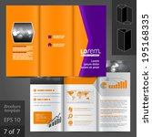 vector purple brochure template ... | Shutterstock .eps vector #195168335