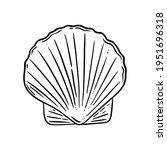 Scallop Shell Logo. Seashell...