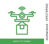 drone icon with wifi sign...
