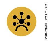 stylish avatar icon in black in ...   Shutterstock .eps vector #1951743175