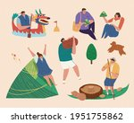 happy young asian people... | Shutterstock .eps vector #1951755862