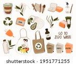 hand drawn elements of zero... | Shutterstock .eps vector #1951771255