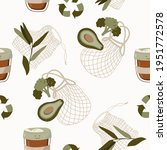 hand drawn seamless pattern of... | Shutterstock .eps vector #1951772578