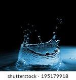 water splash like a crown on... | Shutterstock . vector #195179918