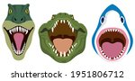 wild animals with open mouth.... | Shutterstock .eps vector #1951806712