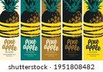 set of labels for pineapple... | Shutterstock .eps vector #1951808482