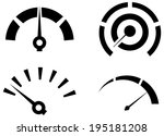 performance icon set  ... | Shutterstock .eps vector #195181208