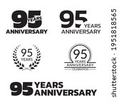 95 Years Anniversary Icon Or...