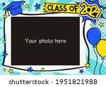 graduation photo frame in pop... | Shutterstock .eps vector #1951821988