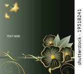 abstract floral background with ... | Shutterstock .eps vector #19518241