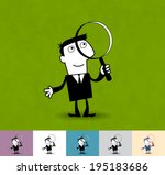 search. business illustration ... | Shutterstock .eps vector #195183686