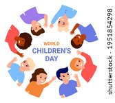 world childrens day. happy...   Shutterstock .eps vector #1951854298