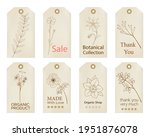 set of vintage tags with hand... | Shutterstock .eps vector #1951876078