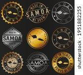 samoa business metal stamps.... | Shutterstock .eps vector #1951882255