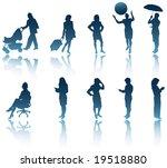 10 modern business woman... | Shutterstock .eps vector #19518880