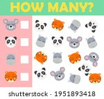 counting. game for preschool...   Shutterstock . vector #1951893418